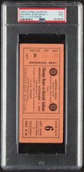 Football Collectibles:Tickets, 1933 Football Exhibition Chicago Bears vs. Detroit Indians Full Ticket, PSA Good 2....