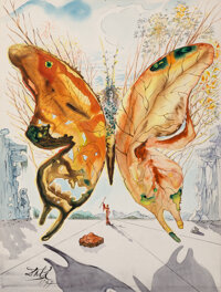 Salvador Dali (Spanish, 1904-1989) Venus Butterfly, 1947 Gouache, watercolor, India ink, pencil and