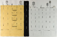 François Avril Blocks Of Flats n°3 Illustration Originale (2011)