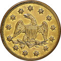 "Western Souvenir Gold, ""1849"" California Model Half Eagle, Brass, MS61 NGC. 18 mm. Ex: Sunrise Collection. ..."