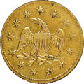 """1849"" California Model Half Eagle, Brass, MS65 NGC. 18 mm. Ex: Sunrise Collection"