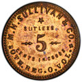 Civil War Tokens, (1861-65) Token M. H. Sullivan & Co. 50th Regiment Ohio Volunteers, OH50-5B, MS63 PCGS. Brass. The variety with the Joh...