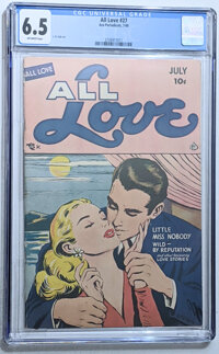 All Love #27 (Ace, 1949) CGC FN+ 6.5 Off-white pages
