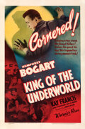 """Movie Posters:Crime, King of the Underworld (Warner Bros., 1939). Fine/Very Fine on Linen. One Sheet (27"""" X 41"""").. ..."""
