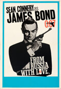 """Movie Posters:James Bond, From Russia with Love (United Artists, 1963). Folded, Very Fine-. British Double Crown (20.25"""" X 30"""") Style B, Eric Pulford ..."""