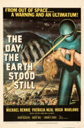 "Movie Posters:Science Fiction, The Day the Earth Stood Still (20th Century Fox, 1951). Folded, Fine+. One Sheet (27"" X 41"").. ..."