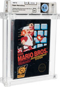 Video Games:Nintendo, Super Mario Bros. - Wata 9.6 A+ Sealed [Hangtab, 1 Code, Mid-Production], NES Nintendo 1985 USA....