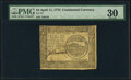 Colonial Notes:Continental Congress Issues, Continental Currency April 11, 1778 $4 PMG Very Fine 30.. ...