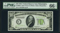 Fr. 2005-C $10 1934 Dark Green Seal Federal Reserve Note. PMG Gem Uncirculated 66 EPQ