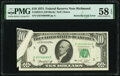 Error Notes:Foldovers, Butterfly Fold Error Fr. 2022-E $10 1974 Federal Reserve Note. PMG Choice About Unc 58 EPQ.. ...
