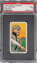 Baseball Cards:Singles (Pre-1930), 1909-11 T206 Sweet Caporal 350/25 Del Howard (Chicago) PSA NM 7 - Pop One, None Higher for Brand/Series/Factory Combo! ...