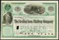 The Sterling Iron and Railway Co. Stock Certificate 65 Shares Apr. 2, 1894 Crisp Uncirculated; Standard Vapor Fuel Ir...