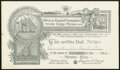 American Board of Commissioners for Foreign Missions, Morning Star 1884 Stock Certificate 1 share 25¢ Jan. 1, 1884...