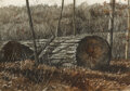 Paintings, Jamie Wyeth (American, b. 1946). Fallen Tree. Watercolor and gouache on paper. 14 x 20 inches (35.6 x 50.8 cm) (sheet). ...