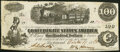 Confederate Notes:1862 Issues, T40 $100 1862 PF-1 Cr. 298 Very Fine+. ...