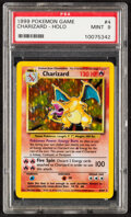 Memorabilia:Trading Cards, Pokémon Charizard #4 Unlimited Base Set Rare Hologram Trading Card (Wizards of the Coast, 1999) PSA MINT 9....