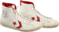 """Basketball Collectibles:Others, 1980-83 Julius Erving Game Worn & Signed Converse """"Pro Leather"""" Sneakers. ..."""