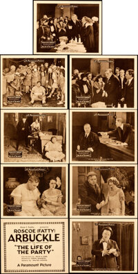 """The Life of the Party (Paramount, 1920). Very Fine+. Lobby Card Set of 9 (Approx. 8"""" X 10"""") with Original Stud..."""