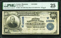 National Bank Notes:Montana, Carter, MT - $10 1902 Plain Back Fr. 632 The First National Bank Ch. # (W)10995 PMG Very Fine 25.. ...