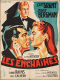 """Movie Posters:Hitchcock, Notorious (Columbia, R-1954). Folded, Fine+. French Moyenne (23.75"""" X 31.5"""") Constantin Belinsky Artwork. Hitchcock.. ..."""