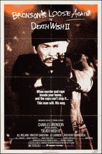 """Death Wish 2 (Filmways, 1982). Folded, Fine/Very Fine. Autographed One Sheet (27"""" X 41""""). Action"""