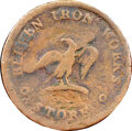 1840 Token Bergen Iron Works, Lakewood, NJ., HT-206 -- Environmental Damage -- NGC Details. Good. Ex: Eric P. Newman Col...
