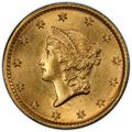 Gold Dollars, 1849 G$1 No L MS64 PCGS. PCGS Population: (72/44 and 6/2+). NGC Census: (83/43 and 2/0+). CDN: $1,650 Whsle. Bid for ...
