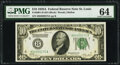 Fr. 2001-H $10 1928A Federal Reserve Note. PMG Choice Uncirculated 64