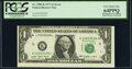 Misaligned Face Printing Error Fr. 1909-K $1 1977 Federal Reserve Note. PCGS Very Choice New 64PPQ. Offset Printing of F...