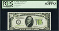 Fr. 2004-K $10 1934 Light Green Seal Federal Reserve Note. PCGS Choice New 63PPQ