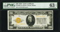Fr. 2402 $20 1928 Gold Certificate. PMG Choice Uncirculated 63 EPQ