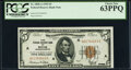 Fr. 1850-A $5 1929 Federal Reserve Bank Note. PCGS Choice New 63PPQ