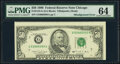 Misaligned Face Printing Error Fr. 2124-G $50 1990 Federal Reserve Note. PMG Choice Uncirculated 64