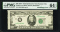 Misaligned Face Printing Error Fr. 2072-J $20 1977 Federal Reserve Note. PMG Choice Uncirculated 64 EPQ