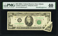 Butterfly Fold Error Fr. 2076-F $20 1988A Federal Reserve Note. PMG Extremely Fine 40