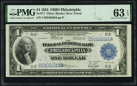 Fr. 717 $1 1918 Federal Reserve Bank Note PMG Choice Uncirculated 63 EPQ