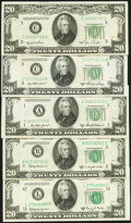 Small Size:Federal Reserve Notes, Fr. 2059-C $20 1950 Federal Reserve Note. Choice Crisp Uncirculated;. Fr. 2060-C $20 1950A Federal Reserve Note....