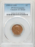 Lincoln Cents, 1909-S 1C VDB -- Cleaning -- PCGS Genuine. AU Details. Mintage 484,000. ...