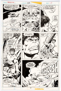 George Perez and Vince Colletta Fantastic Four #166 Story Page 17 Original Art (Marvel, 1976)