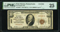National Bank Notes:Pennsylvania, Point Marion, PA - $10 1929 Ty. 1 The Peoples National Bank Ch. # 9503 PMG Very Fine 25.. ...