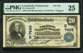 National Bank Notes:Pennsylvania, Connellsville, PA - $20 1902 Plain Back Fr. 650 The Colonial National Bank Ch. # (E)7445 PMG Very Fine 25.. ...