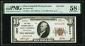 National Bank Notes:Pennsylvania, Glen Campbell, PA - $10 1929 Ty. 1 The First National Bank Ch. # 5204 PMG Choice About Unc 58 EPQ.. ...