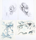 Thom Enriquez Ghostbusters II Baby-nappers Ghosts Concept Illustrations Original Art Group of 4 (Columbia, 1989). ... (T...