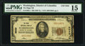 Washington, DC - $20 1929 Ty. 1 The Riggs National Bank Ch. # 5046 PMG Choice Fine 15