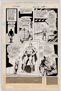 Curt Swan ad Murphy Anderson Superman #248 Story Page 1 Original Art (DC, 1972)