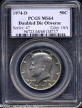 Kennedy Half Dollars: , 1974-D Doubled Die Obverse MS64 PCGS....