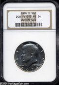 Kennedy Half Dollars: , 1974-D Doubled Die Obverse MS64 NGC. FS-015....