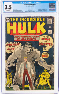 The Incredible Hulk #1 (Marvel, 1962) CGC VG- 3.5 White pages