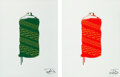 Prints & Multiples, Alexander-John X Rock The Bells. OG Drip Spray Can (Red and Green), 2020. Screenprints in colors on paper. 24 x 18 inche...