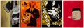 Prints & Multiples, KAWS, Shepard Fairey, Barry McGee, and Misha Hollenbach. Tokion Posters (set of 4), c.1999. Offset lithograph in colors ... (Total: 4 Items)